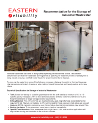 Storage Recommendations of Industrial Wastewater PDF