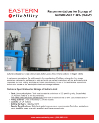 Recommendations for Storage of greater than 80 percent Sulfuric Acid PDF